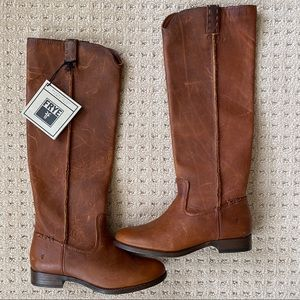 Frye Tall Leather Cara Riding Boots